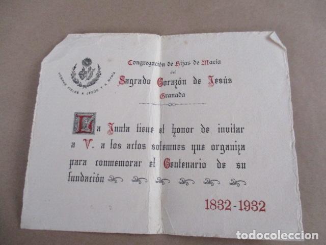 CONGREGACIÓN DE HIJAS DE MARÍA DE SAGRADO CORAZÓN DE JESÚS - GRANADA (Antigüedades - Religiosas - Varios)