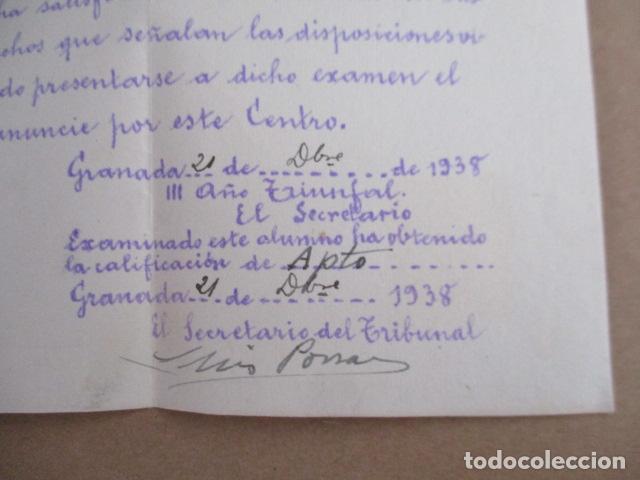 Antigüedades: Colegio la Inmaculada - Examen de Ingreso - 1938 - Foto 3 - 208071422
