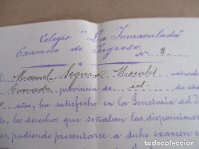 Antigüedades: Colegio la Inmaculada - Examen de Ingreso - 1938 - Foto 4 - 208071422