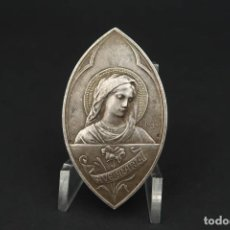 Antiguidades: ANTIGUA PLACA RELIGIOSA DE PLATA. Lote 208079245
