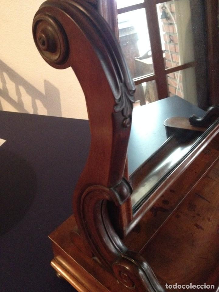 Antigüedades: Espejo tocador balancín de caoba s XIX - Foto 6 - 208094552