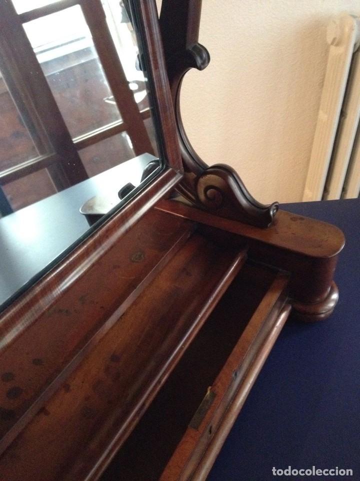 Antigüedades: Espejo tocador balancín de caoba s XIX - Foto 10 - 208094552