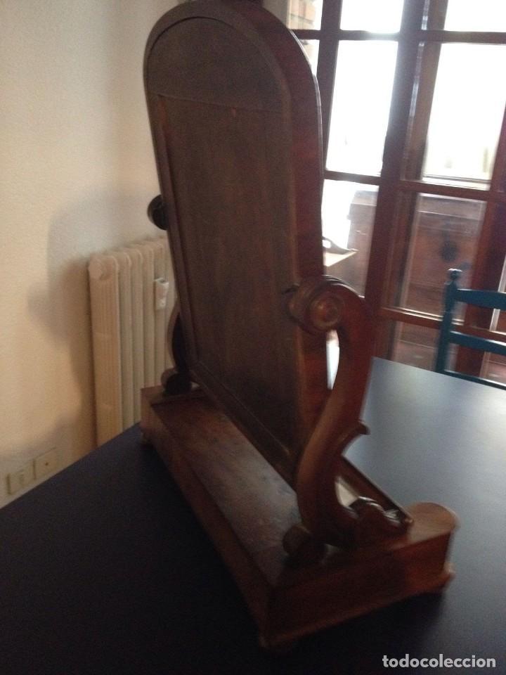 Antigüedades: Espejo tocador balancín de caoba s XIX - Foto 13 - 208094552