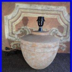 Antigüedades: LAMPARA PANTALLA DE TERRACOTA MUY DECORATIVA. Lote 208102650