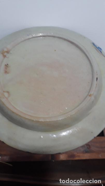 Antigüedades: muy raro plato en ceramica de granada siglo xix,tecnica de cuerdaseca - Foto 5 - 217936505