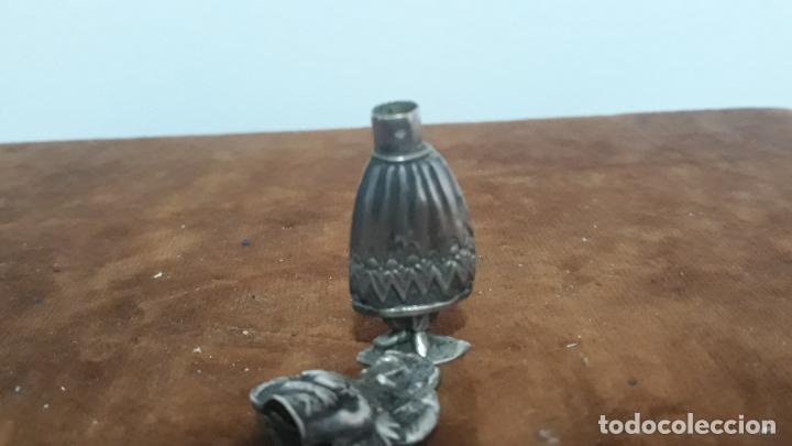 Antigüedades: perfumero en plata de ley con contrastes siglo xviii - Foto 3 - 208118513