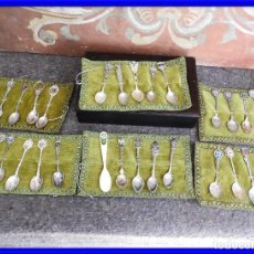 Antigüedades: COLECCION DE CUCHARILLAS DE CIUDADES EN SU CAJA. Lote 208119503