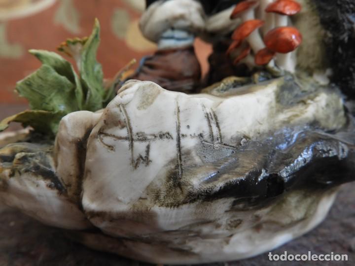 Antigüedades: BONITA FIGURA DE PORCELANA DE CAPODIMONTE COLECCION VENERE - Foto 12 - 208119718