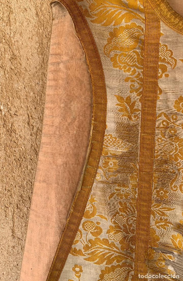 Antigüedades: ANTIGUA CASULLA SIGLO XIX .. M GARIN , HIJOS .MADRID . SOCIEDAD ECONOMICA AMIGOS DEL PAIS VALENCIA - Foto 5 - 208119987
