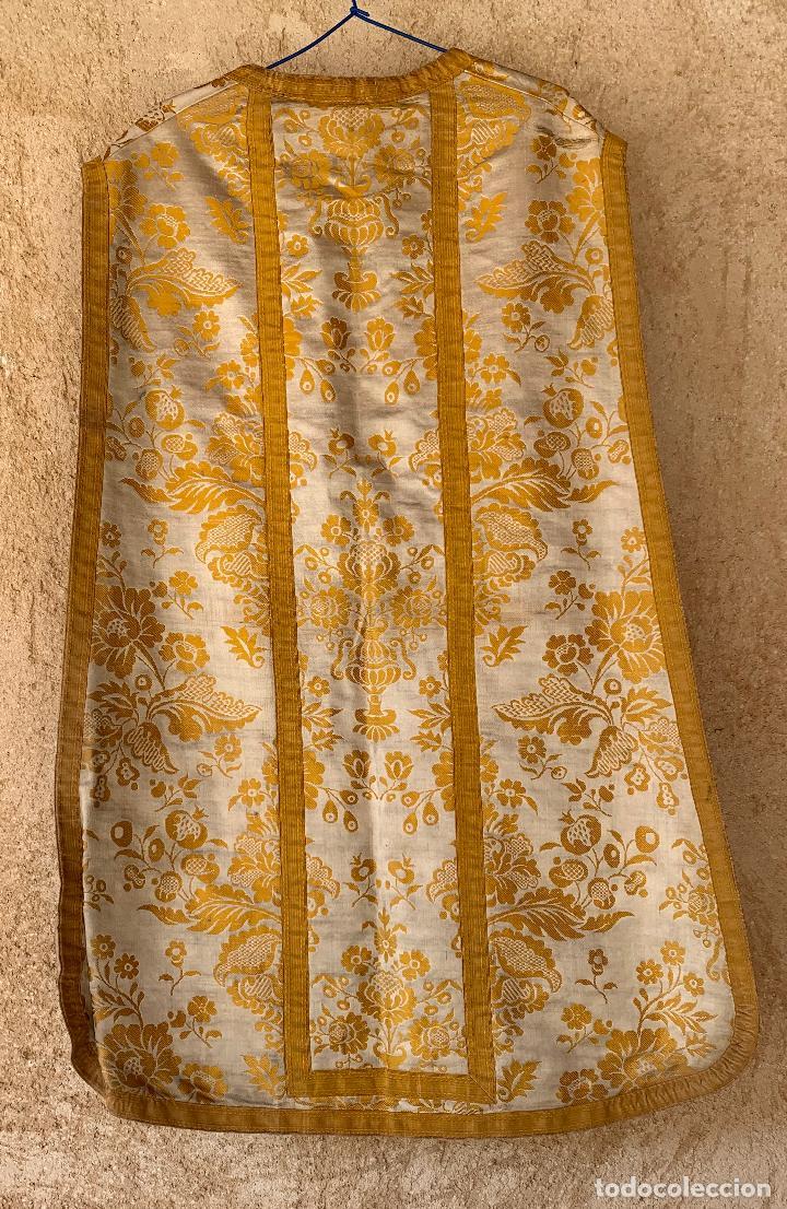 Antigüedades: ANTIGUA CASULLA SIGLO XIX .. M GARIN , HIJOS .MADRID . SOCIEDAD ECONOMICA AMIGOS DEL PAIS VALENCIA - Foto 7 - 208119987