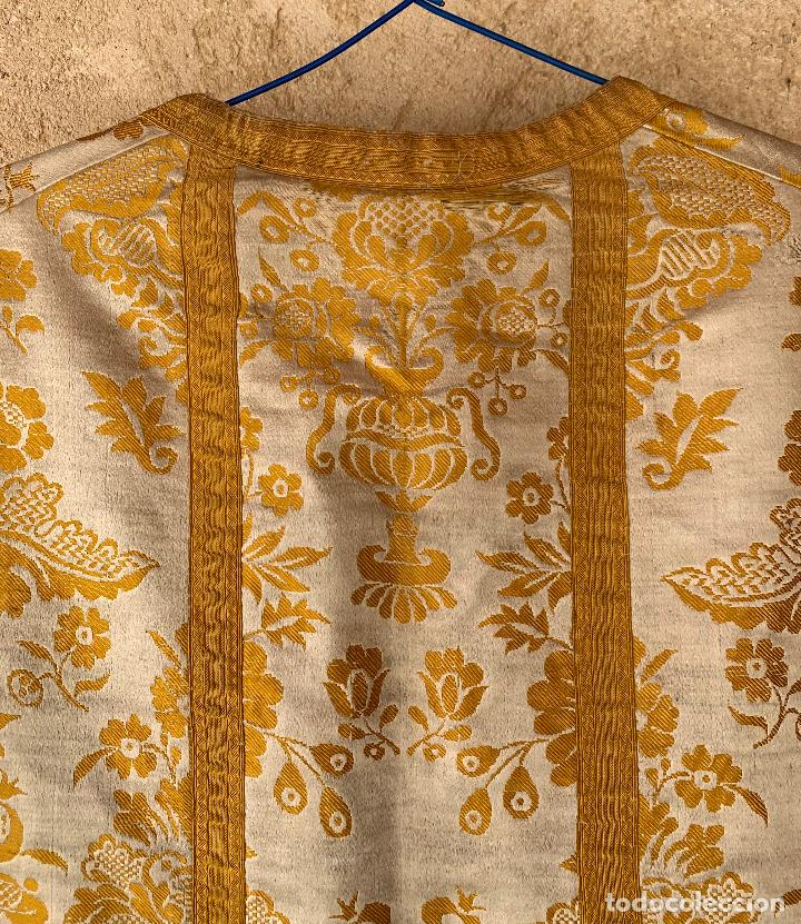 Antigüedades: ANTIGUA CASULLA SIGLO XIX .. M GARIN , HIJOS .MADRID . SOCIEDAD ECONOMICA AMIGOS DEL PAIS VALENCIA - Foto 9 - 208119987