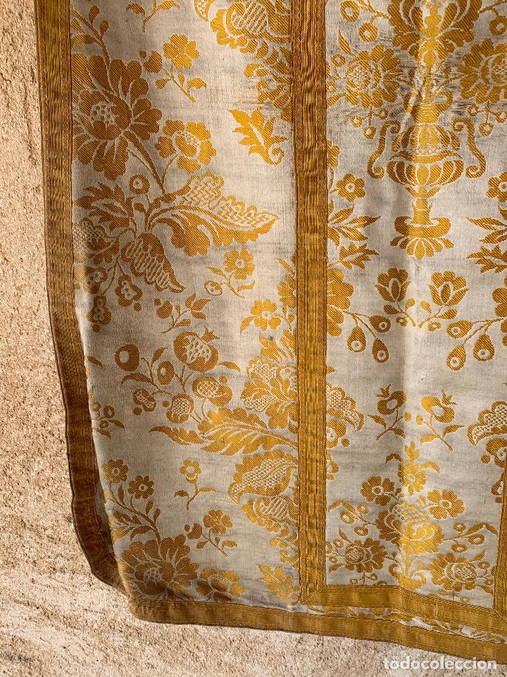 Antigüedades: ANTIGUA CASULLA SIGLO XIX .. M GARIN , HIJOS .MADRID . SOCIEDAD ECONOMICA AMIGOS DEL PAIS VALENCIA - Foto 10 - 208119987
