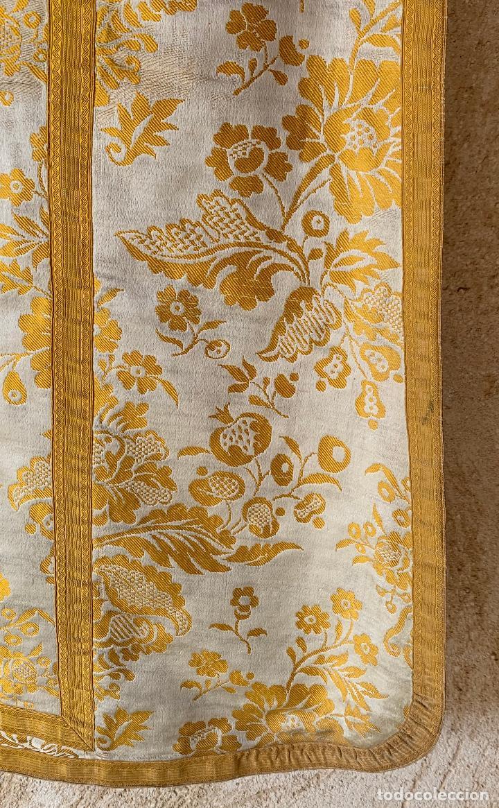 Antigüedades: ANTIGUA CASULLA SIGLO XIX .. M GARIN , HIJOS .MADRID . SOCIEDAD ECONOMICA AMIGOS DEL PAIS VALENCIA - Foto 11 - 208119987