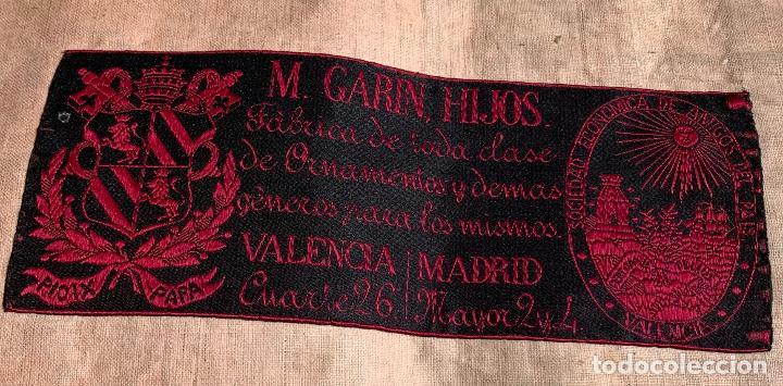 Antigüedades: ANTIGUA CASULLA SIGLO XIX .. M GARIN , HIJOS .MADRID . SOCIEDAD ECONOMICA AMIGOS DEL PAIS VALENCIA - Foto 19 - 208119987