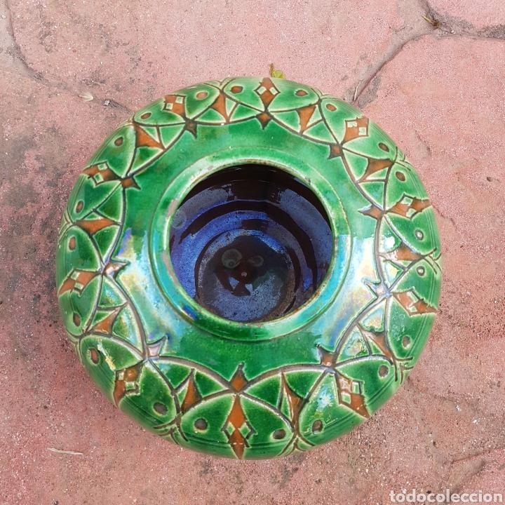 Antigüedades: JARRÓN DE CERAMICA ESMALTADA GONGOLA (UBEDA) - Foto 3 - 208126268