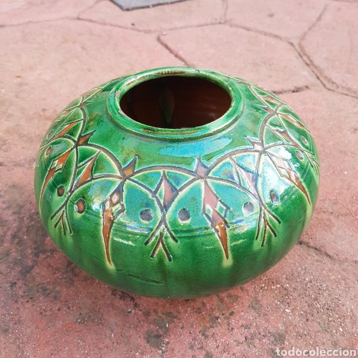 JARRÓN DE CERAMICA ESMALTADA GONGOLA (UBEDA) (Antigüedades - Porcelanas y Cerámicas - Úbeda)