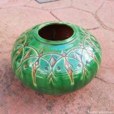 Antigüedades: JARRÓN DE CERAMICA ESMALTADA GONGOLA (UBEDA). Lote 208126268
