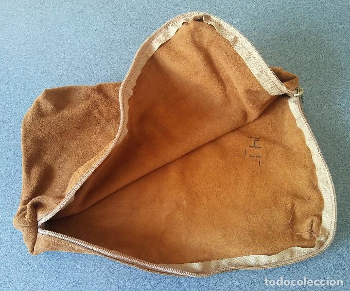 Antigüedades: Bolso de ante vintage años 70 - Foto 4 - 208139267