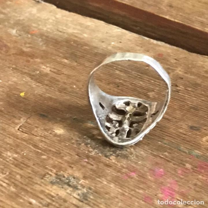 Antigüedades: Antiguo anillo de plata. Cruz de Caravaca - Foto 5 - 208149673