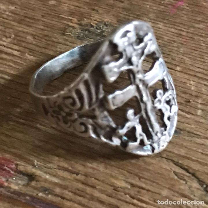 Antigüedades: Antiguo anillo de plata. Cruz de Caravaca - Foto 8 - 208149673