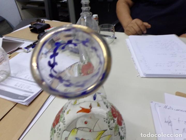Antigüedades: porron cristal vidrio esmaltado firmado cirera - Foto 6 - 208158628