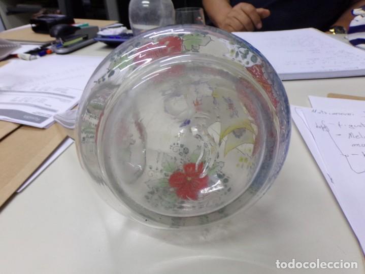 Antigüedades: porron cristal vidrio esmaltado firmado cirera - Foto 8 - 208158628
