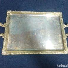 Antigüedades: BANDEJA DOS ASAS METAL PLATEADO. Lote 208161616