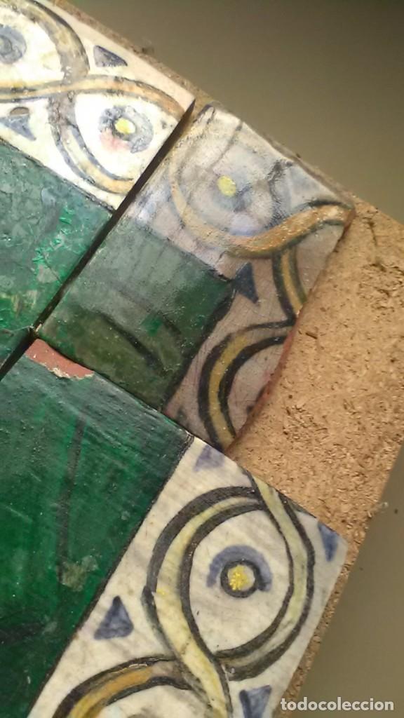 Antigüedades: Azulejos de la Virgen Maria, Firmado C. Serra, feligreses, rogativa o exvoto - Foto 4 - 208165870