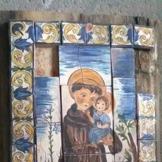 Antigüedades: SAN ANTONIO O FRAILE, FIRMADO C. SERRA, RARO. Lote 208166573