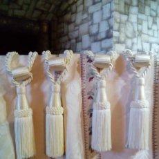 Antigüedades: PRECIOSAS NUEVAS CORTINAS DE ALTA CALIDAD CON ALZAPAÑOS. Lote 208176400