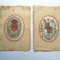 Antigüedades: ESCAPULARIO APOSTOLADO DE LA ORACIÓN PIO IX 14 JULIO 1877. Lote 208187863