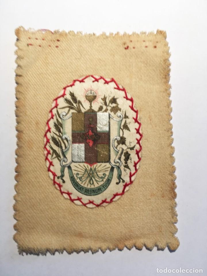 Antigüedades: ESCAPULARIO APOSTOLADO DE LA ORACIÓN PIO IX 14 JULIO 1877 - Foto 4 - 208187863