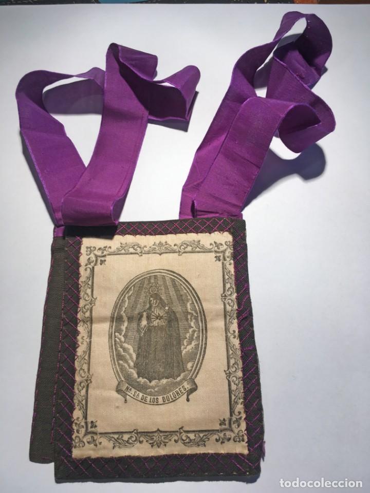 ESCAPULARIO Nª Sª DE LOS DOLORES (Antigüedades - Religiosas - Escapularios Antiguos)