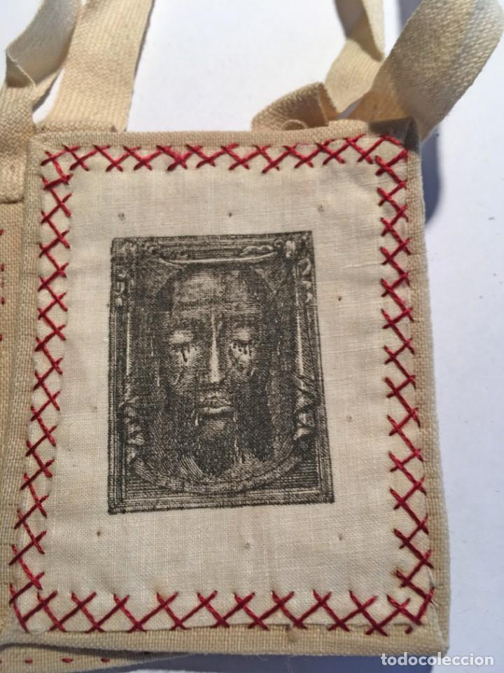 ESCAPULARIO NAZARENUS SÁBANA SANTA (Antigüedades - Religiosas - Escapularios Antiguos)