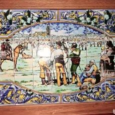 Antiguidades: BONITA BADEJA AZULEJOS FERIA DEL GANADO SEVILLA. Lote 208198850
