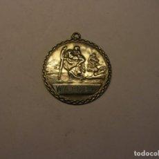 Antigüedades: ANTIGUA MEDALLA RELIGIOSA DE SAN CRISTOBAL, Nº 18.. Lote 208206972
