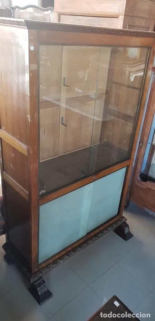 Antigüedades: Mesa de despacho / Escritorio de nogal - Foto 7 - 183067450