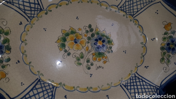 Antigüedades: Pareja de bandejas ceramica murciana LARIO leer descripción - Foto 3 - 208235571