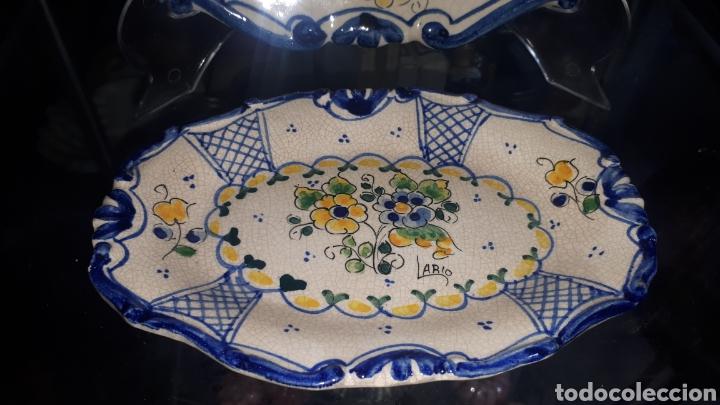 Antigüedades: Pareja de bandejas ceramica murciana LARIO leer descripción - Foto 4 - 208235571
