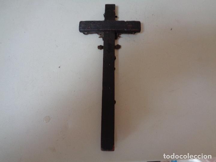 Antigüedades: antiguo crucifijo - Foto 2 - 208284868