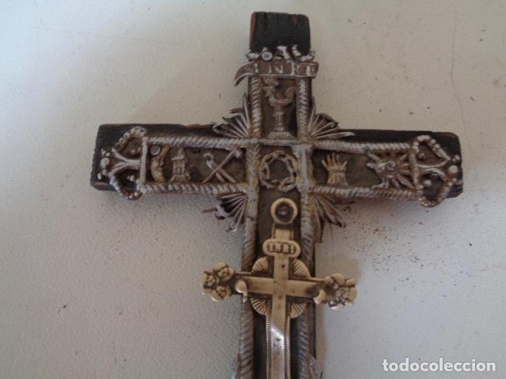 Antigüedades: antiguo crucifijo - Foto 3 - 208284868