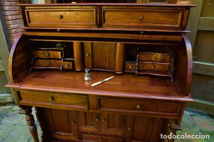 Antigüedades: Mueble Bureau a cilindro S.XX - Foto 4 - 208315188