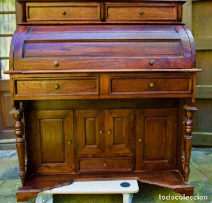 Antigüedades: Mueble Bureau a cilindro S.XX - Foto 9 - 208315188