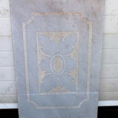 Antigüedades: ANTIGUA PIEDRA DE MARMOL TALLADO IDEAL PARA MESA.77 X 50 CM.. Lote 208319995