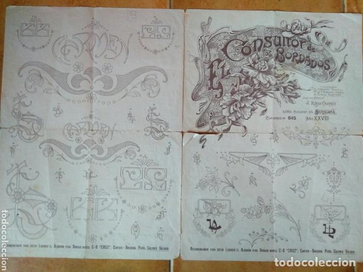 CONSULTOR DE LOS BORDADOS CUADERNO - N 645-RIVAS CASTAÑÉ -BARCELONA - AÑOS 20 (Antigüedades - Moda - Bordados)
