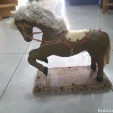 Antigüedades: FIGURA CABALLO CUERO ANTIGUA. Lote 208346663