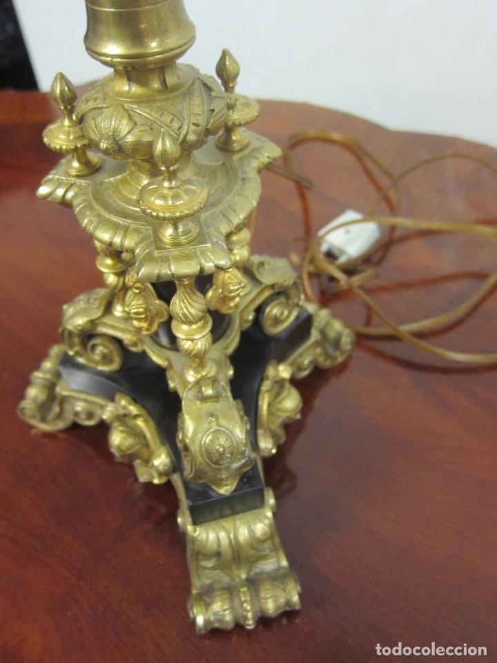 Antigüedades: Lámpara Bronce sXIX - Foto 4 - 208357037