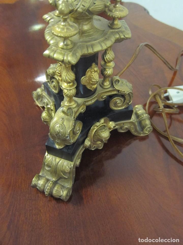 Antigüedades: Lámpara Bronce sXIX - Foto 5 - 208357037