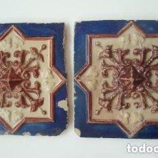 Antigüedades: PAREJA DE AZULEJOS.. Lote 208373390