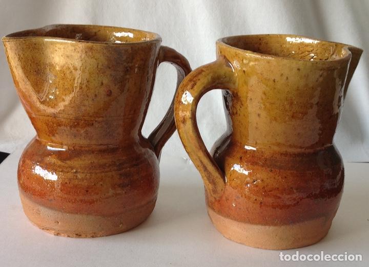 LOTE DE 2 JARRITAS DE CERÁMICA DE ALCORA. NUEVAS. 12 X 11 CM. (Antigüedades - Porcelanas y Cerámicas - Alcora)